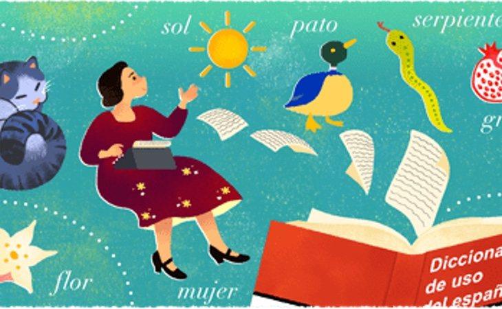 Google ha homenajeado a María Moliner con uno de sus característicos 'Doodle'