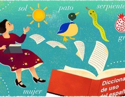El homenaje de Google a María Moliner en uno de sus artísticos 'doodles'