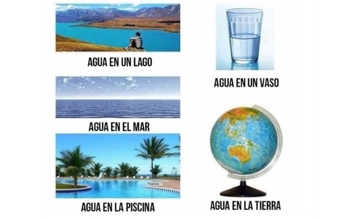 El agua no se cae