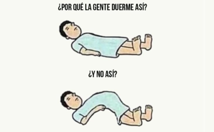 Dormir con la espalda doblada