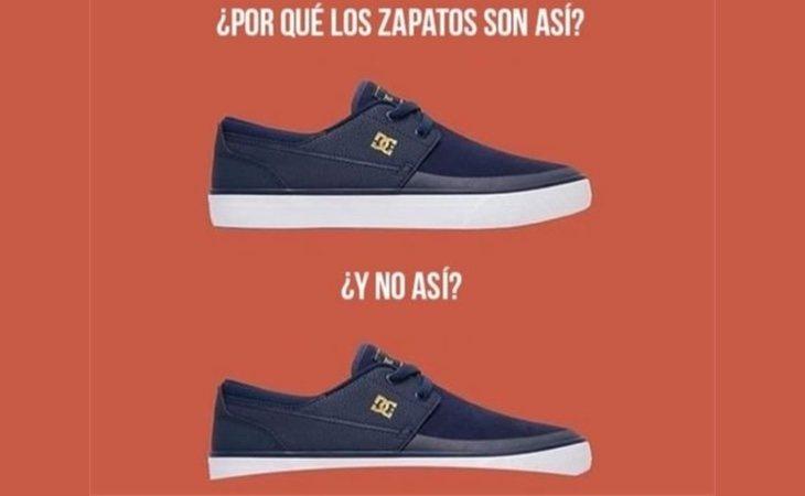 Zapatos con suela redondeada