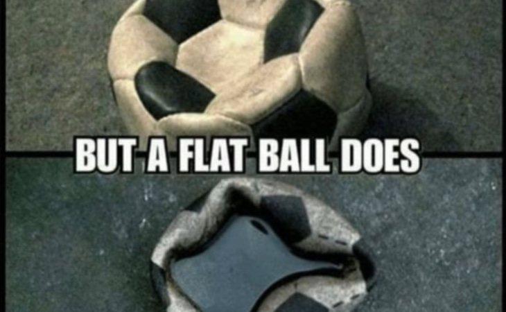 En una pelota inflada el agua se cae