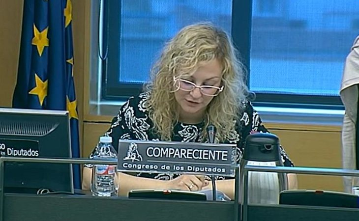 María Sevilla compareció en la Comisión de Derechos de la Infancia y la Adolescencia en 2017