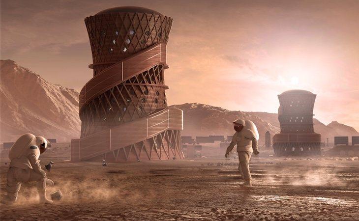 Proyecto ganador, presentado por el eqiopo SEArch+/Apis Cor | NASA