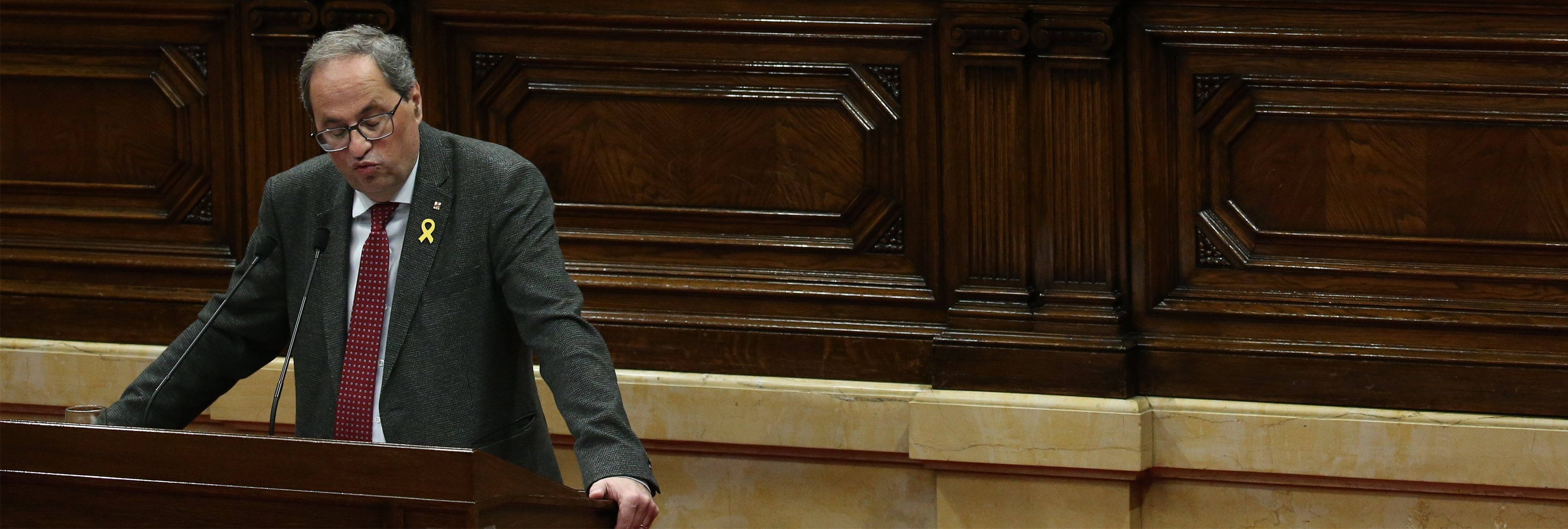 El Parlament aprueba la moción que insta a Quim Torra a convocar elecciones