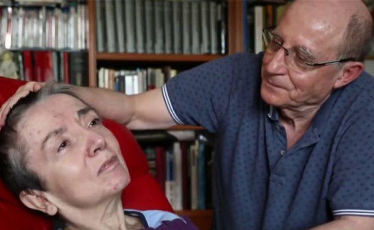 María José Carrasco junto a su marido, Ángel Hernández