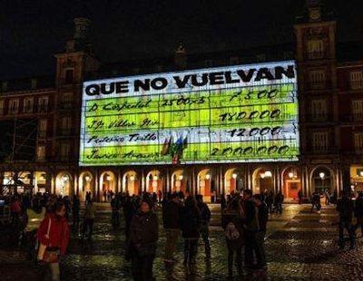 El PP estalla contra Carmena por la exhibición de los papeles de Bárcenas en la Plaza Mayor