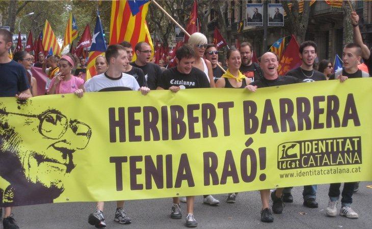 Heribert Barrera siempre ha sido considerado como uno de los referentes de la extrema derecha independentista catalana