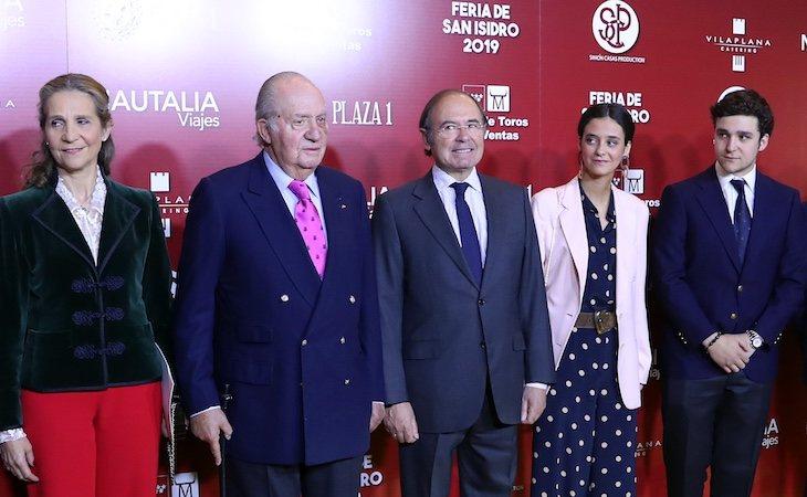 El rey Juan Carlos apareció en público con la infanta Elena y sus nietos Froilán y Victoria Federica