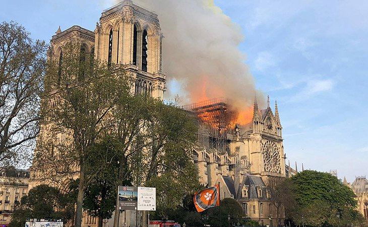 El incendio está relacionado con las labores de restauración, según han señalado las autoridades