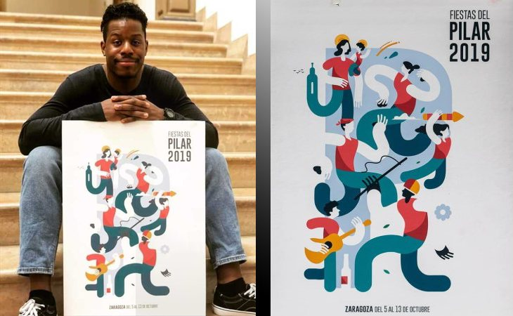 'Pilares', de Samuel Afinkenwa, es la obra ganadora para representar las Fiestas del Pilar de Zaragoza 2019