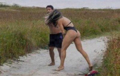 Una mujer da una brutal paliza al acosador que se estaba masturbando mientras la miraba