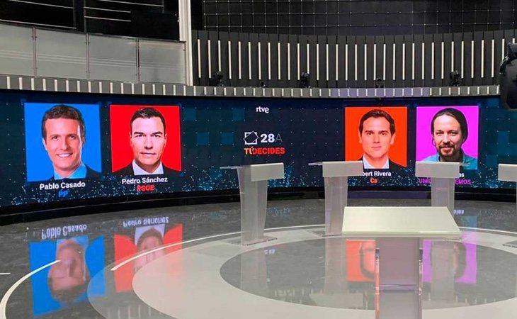 Los cuatro candidatos al Gobierno ya están en Prado del Rey: está a punto de empezar el debate de RTVE