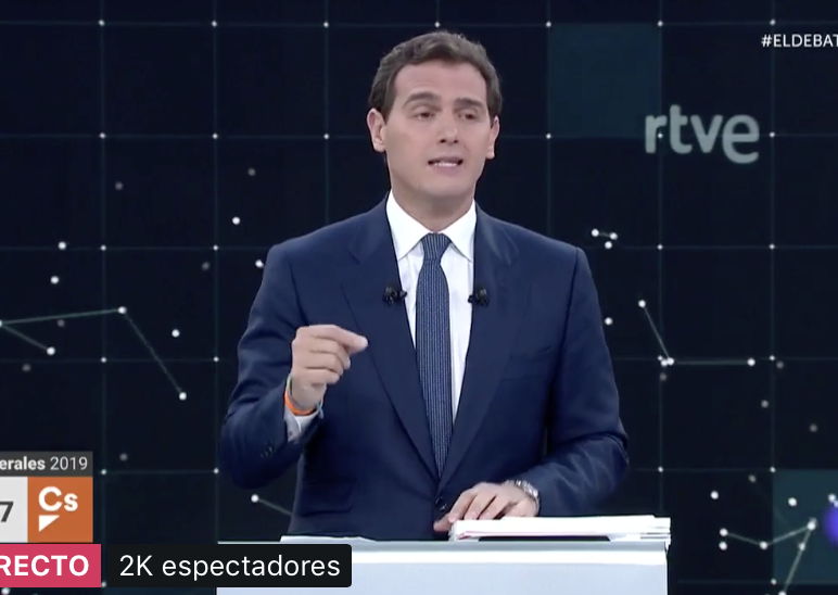 ¡QUÉ SORPRESA! Albert Rivera comienza el debate atacando a Pedro Sánchez