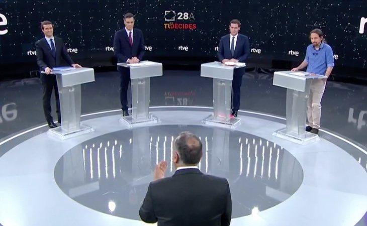 Y hasta aquí el debate a cuatro de RTVE