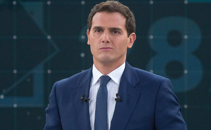 Albert Rivera, candidato a la presidencia de Ciudadanos, en el Debate de RTVE