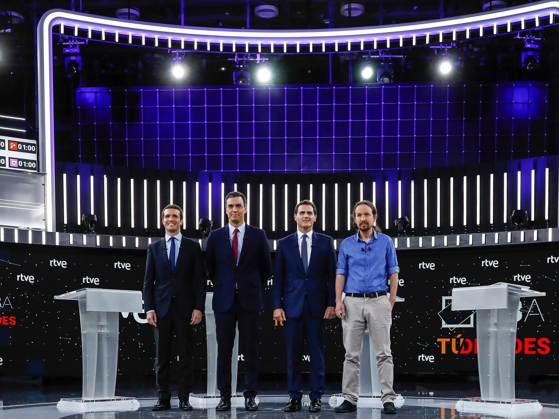 El Debate de RTVE no tuvo un ganador pero sí un claro perdedor: Pablo Casado