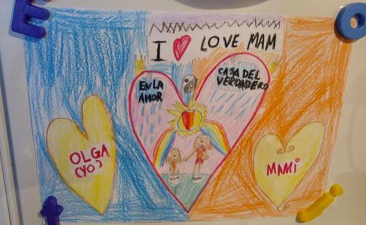 Uno de los dibujos de la hija pequeña de Elena | ABC