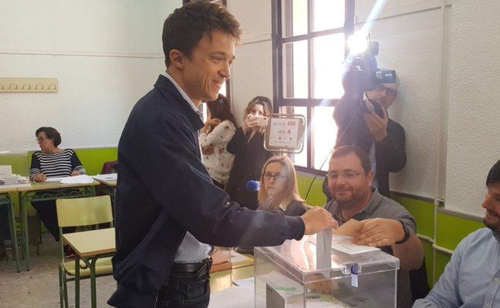 Íñigo Errejón, el que fuera mano derecha de Pablo Iglesias, ya ha votado a Unidas Podemos