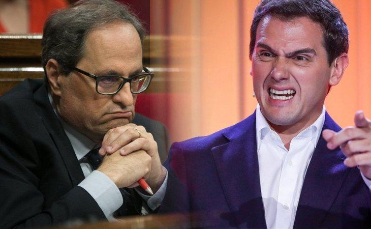 Quim Torra y Albert Rivera se enzarzan en las redes sociales por el incidente de Inés Arrimadas en la mesa electoral