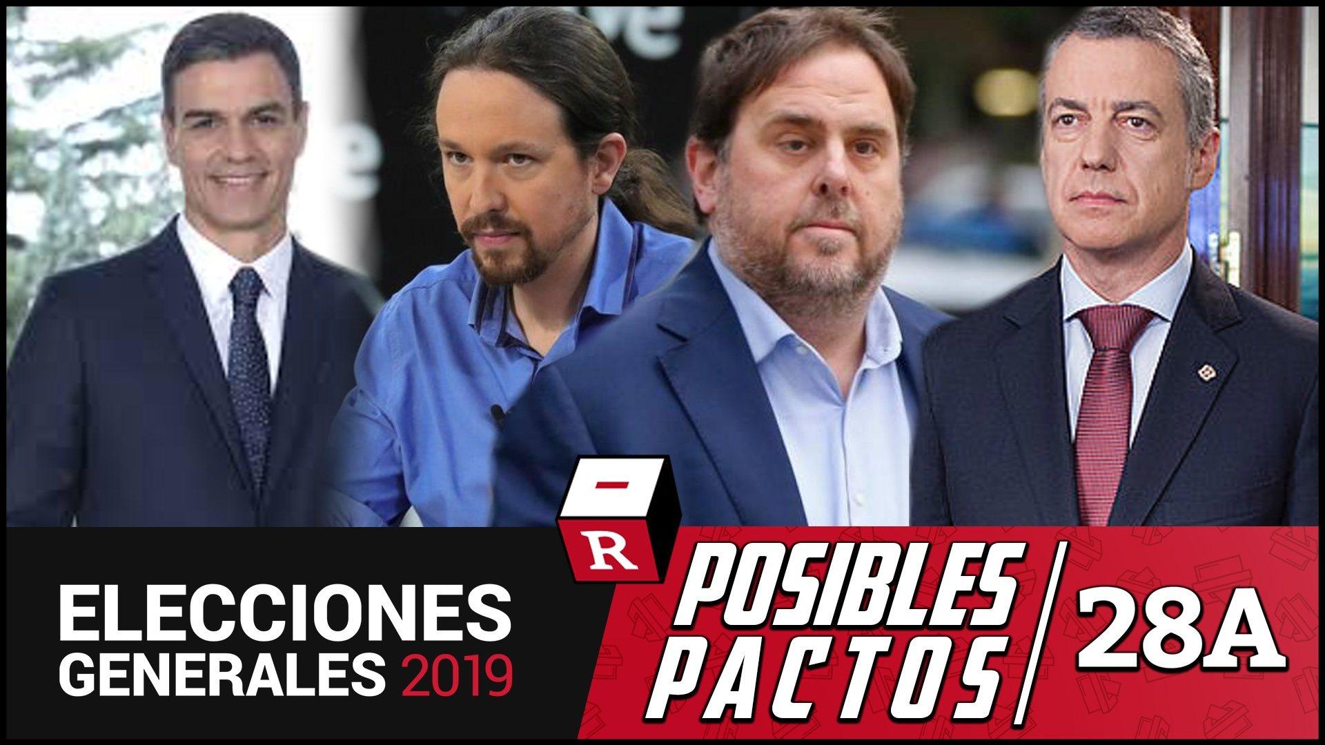Pedro Sánchez podría gobernar con el apoyo de Podemos, ERC y PNV (177 escaños) y evitar a Puigdemont (poco proclive al pacto); según el ...