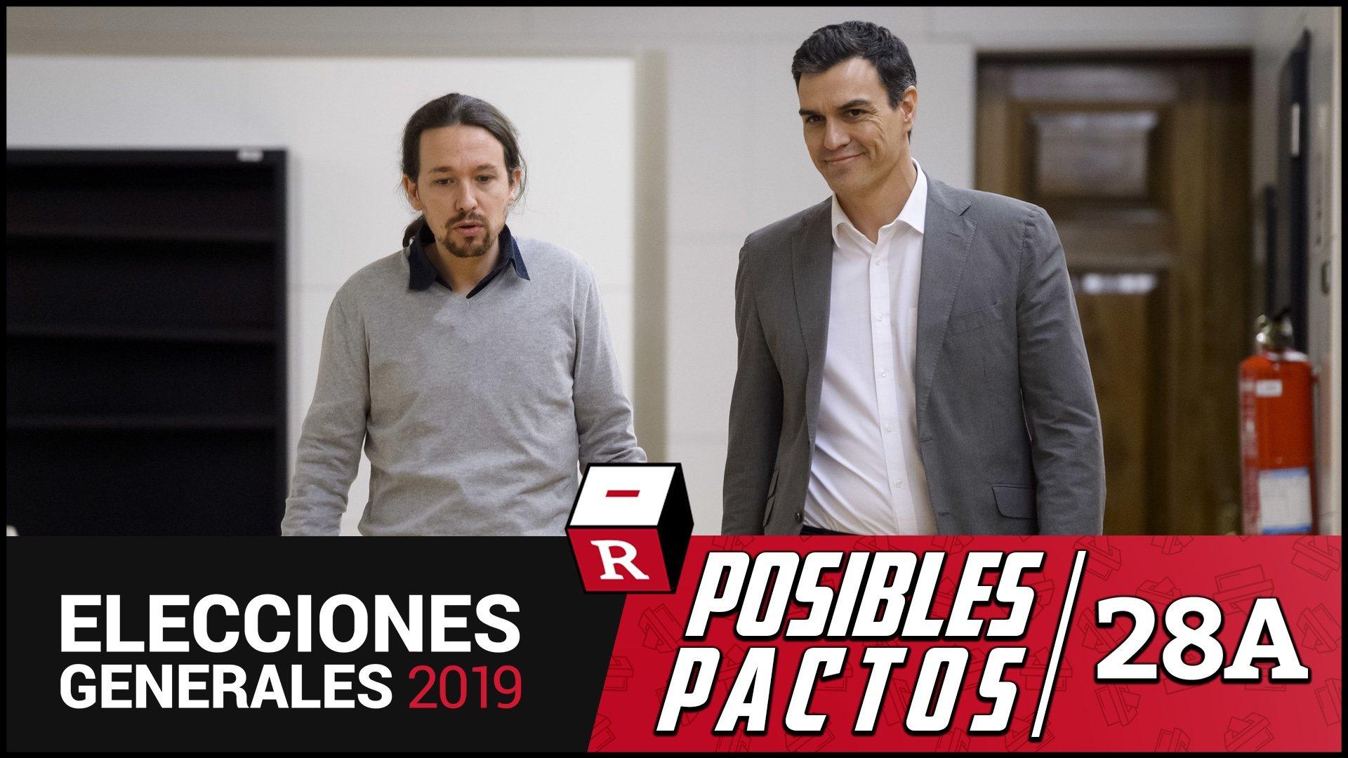 PSOE y Podemos, a cinco escaños de la mayoría absoluta con el 30% del voto escrutado