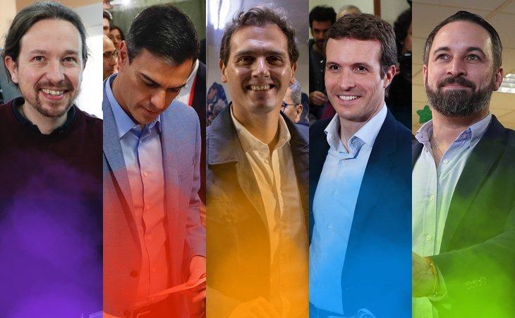 Con el 66% escrutado: PSOE (124), PP (65), Ciudadanos (57), Podemos (43), Unidas Podemos (23)