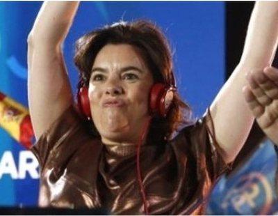 Soraya Sáenz de Santamaría, protagonista entre los mejores memes del 28A