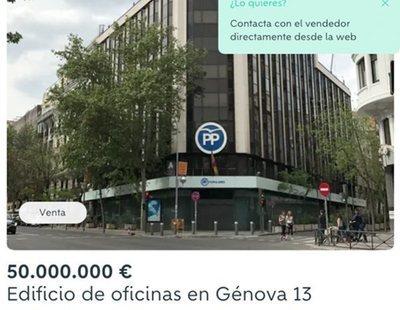 """Se vende la sede del PP en Wallapop """"por no usar"""""""