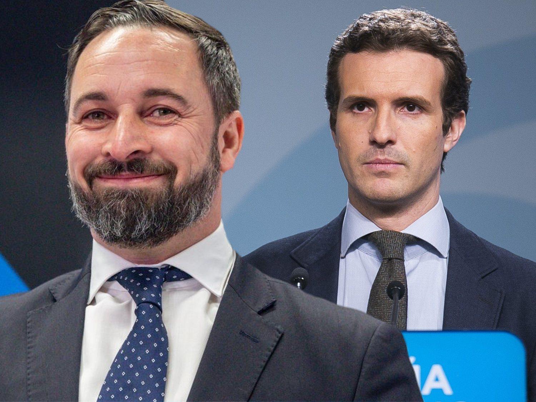 """Casado estalla contra Abascal por """"cobrar de chiringuitos y mamandurrias"""" de su partido"""