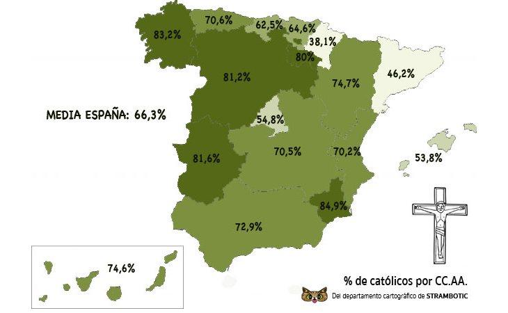 Murcia es la región más católica de España