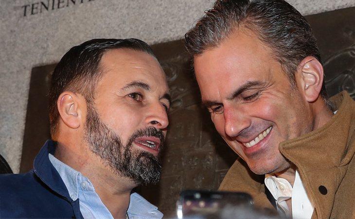 Santiago Abascal y Javier Ortega Smith, durante la campaña electoral