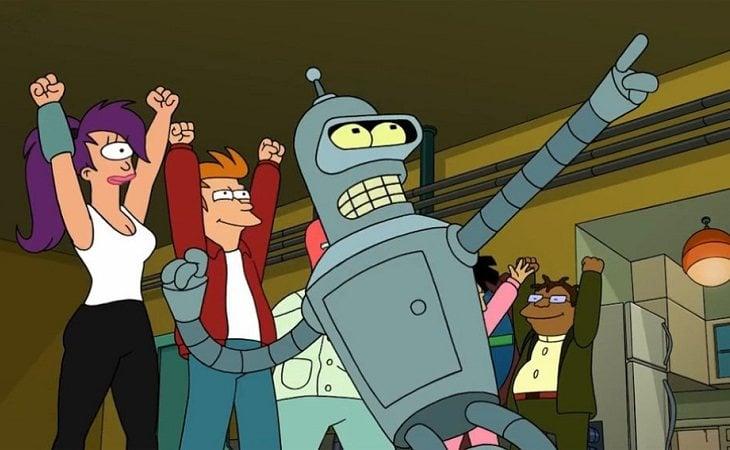 Leela, Fry y Bender, protagonistas de 'Futurama'