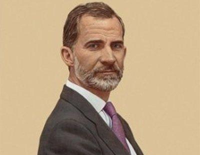 El retrato oficial del rey colgado en el Congreso ha costado 88.000 euros
