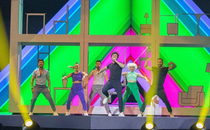 Miki Núñez en el primer ensayo de España en Eurovisión 2019