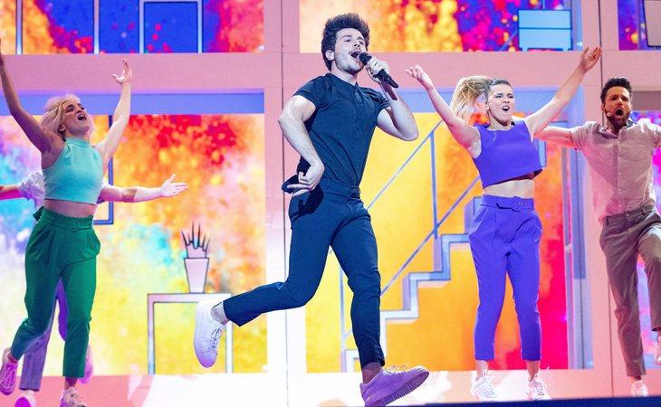 Puesta en escena de Miki en Eurovisión 2019