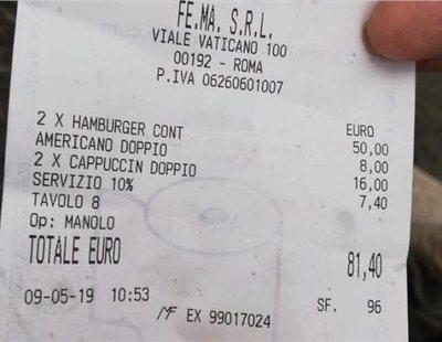 'Sablazo' a turistas en este bar: dos hamburguesas y tres cafés por 'solo' 81 euros