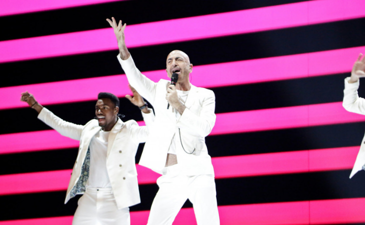Serhat, representante de San Marino, en la primera semifinal de Eurovisión 2019