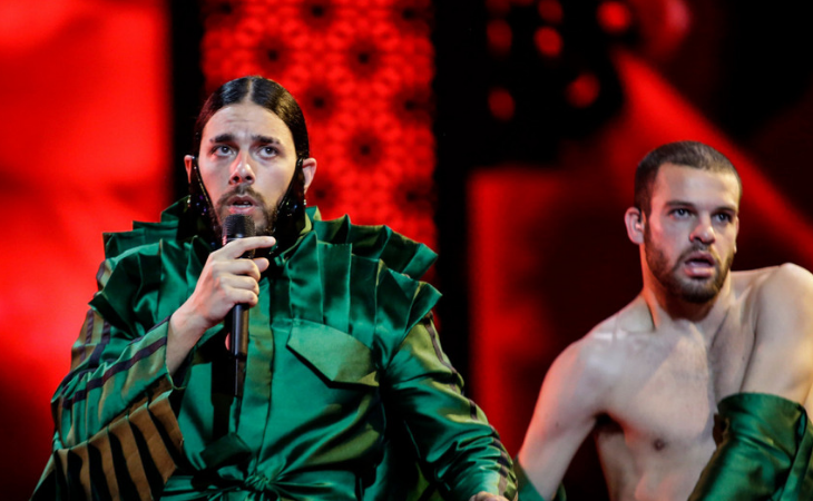 Conan Osiris, representante de Portugal, en la primera semifinal de Eurovisión 2019