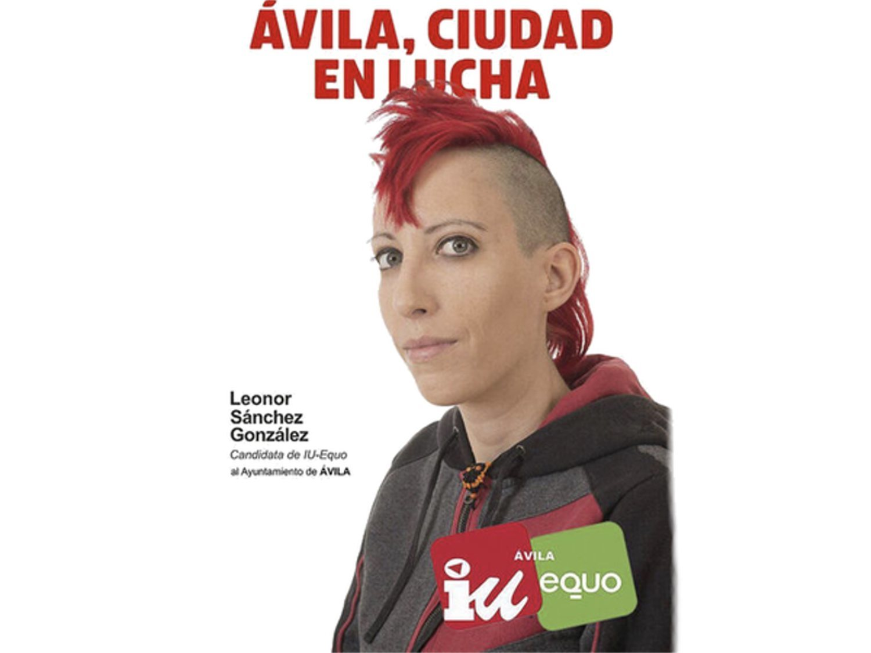 "Leonor, la candidata 'punky' de IU protagonista en redes: ""Me llaman okupa y mendiga"""
