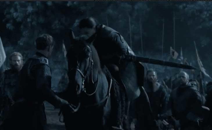 Jon Snow en la Batalla de los Bastardos