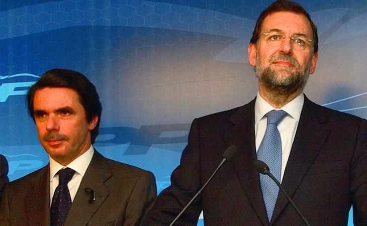 José María Aznar y Mariano Rajoy (PP), ex presidentes del Gobierno