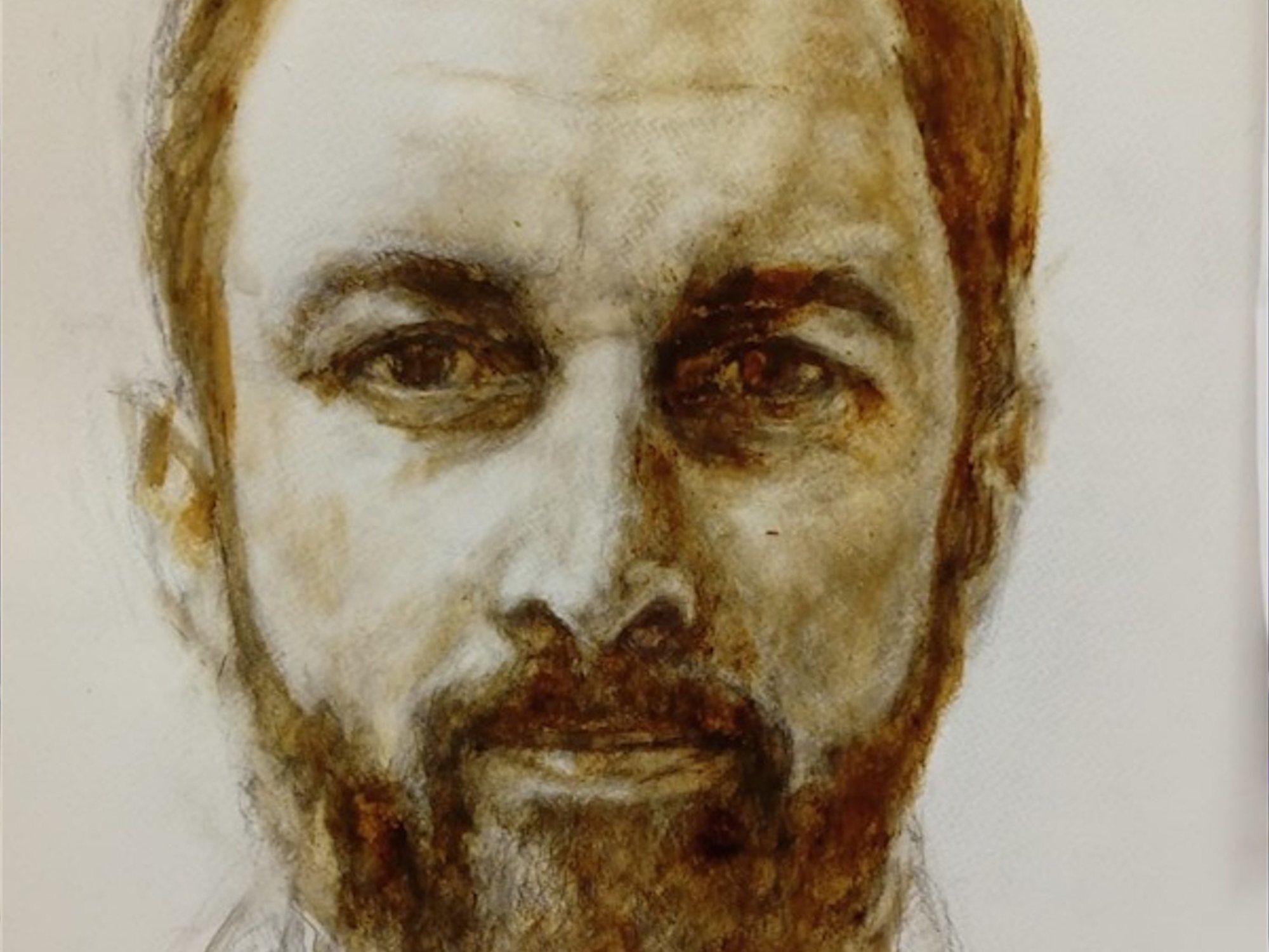 Un artista madrileño retrata con su propios excrementos a Santiago Abascal