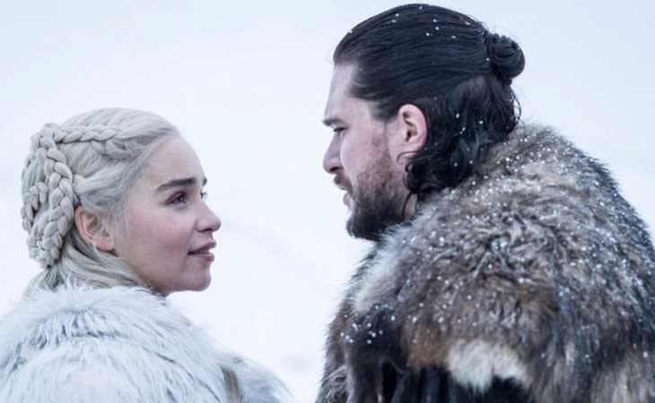 Daenerys y Jon, en la 8ª temporada de 'Juego de Tronos'