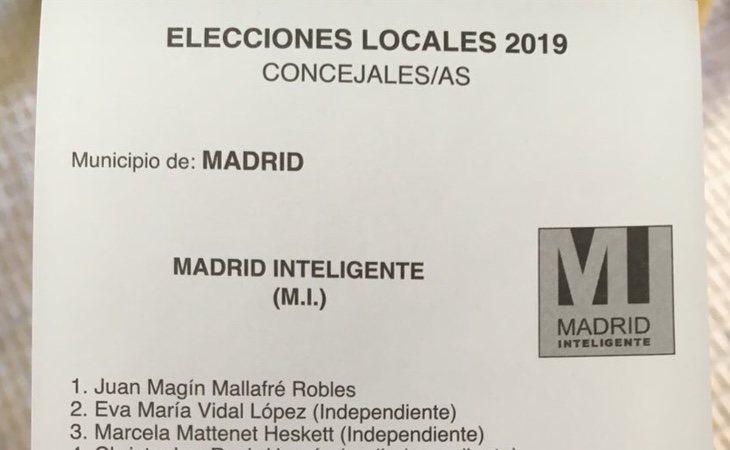 Confusión en algunas mesas entre Más Madrid y Madrid Inteligente, una lista con 50 miembros británicos con un logo prácticamente calcado al que ...