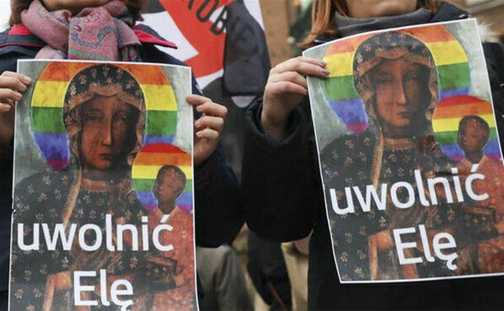 La virgen de Czestochowa, símbolo del colectivo LGTBI en Polonia