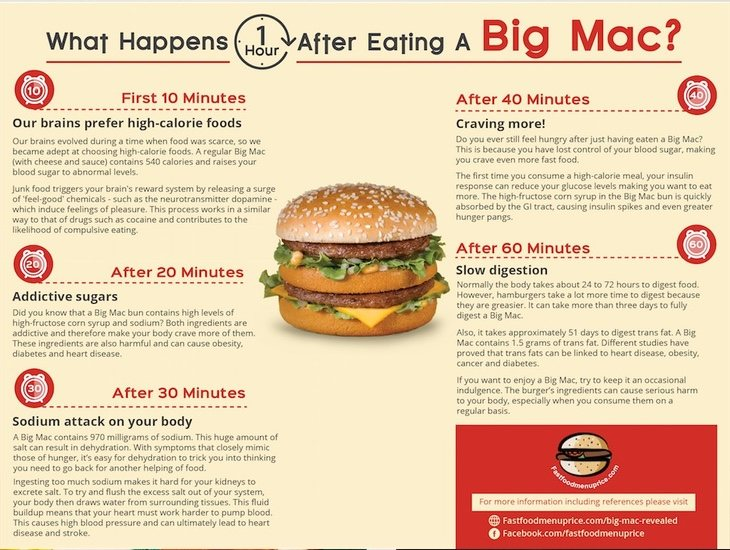 Así interacciona un Big Mac en nuestro organismo