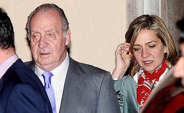 Juan Carlos no ha dejado de ver a su hija menor, Cristina