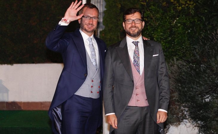 Javier Maroto y Josema Rodríguez durante su boda en Vitoria