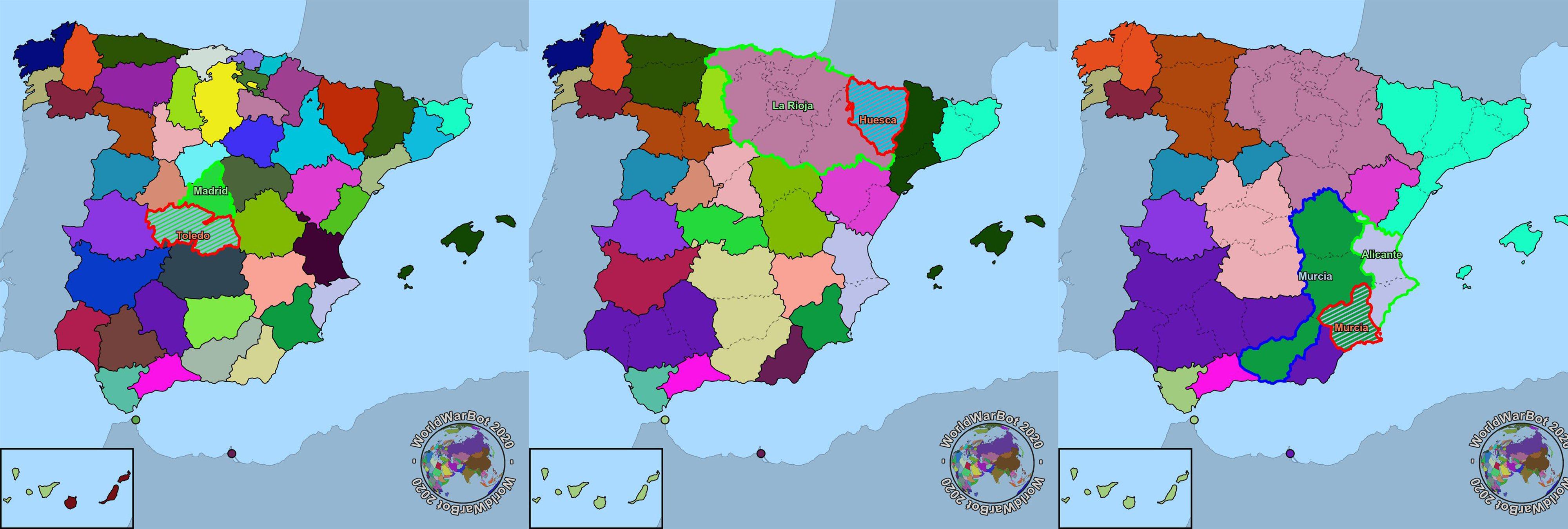 Guerra Civil Bot: la simulación bélica española por provincias que está causando furor